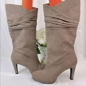 Mootsie Tootsie Taupe Faux Suede Boots